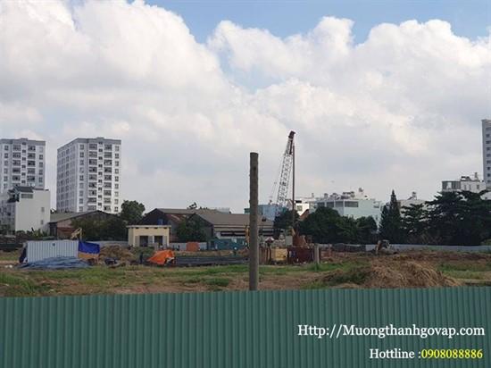 Tiến độ xây dựng dự án Mường Thanh Gò Vấp ngày 22-4-2019